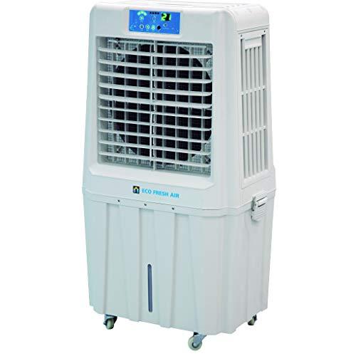 Bricoloco Climatizador Enfriador Evaporativo Eco Fresh Air. Climatizador capaz de generar una corriente máxima de 5000m3/h. Refresca rápida y eficazmente. Sin instalación y ecológico