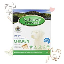 WET DOG FOOD FOR SMALL AND LARGE DOGS. The Natures Harvest Wet Dog Food Chicken and Brown Rice wet dog food for puppy combination is Wheat-Gluten Free, perfect for improving the overall gut health and mood of your dogs. An easy-to-chew-and-digest dog...
