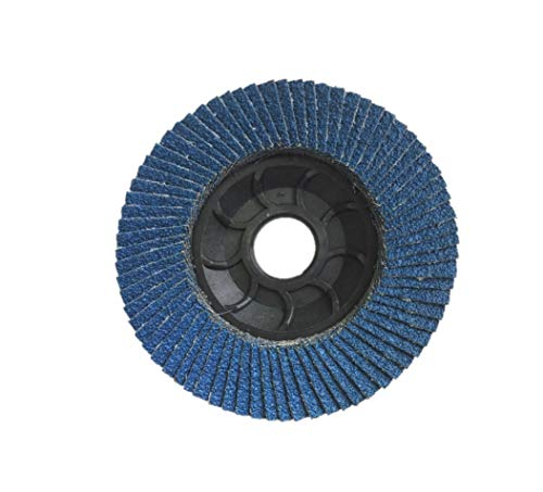 100 Pezzi Flap Disc | Dischi smerigliatrice | Dischi Lamellari Professionali Abrasivo Zirconio | blu│ 115X22 mm │ grana 40-60-80-120 | Dischi Abrasivi Lamellare (100 Pezzi Gr 60)