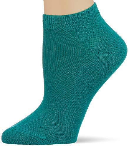 FALKE Women's Family Ankle Socks, Green (Emerald 7205), 2.5/5