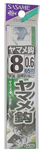 ささめ針(SASAME) AA702 ヤマメ鈎 青 糸付 8号