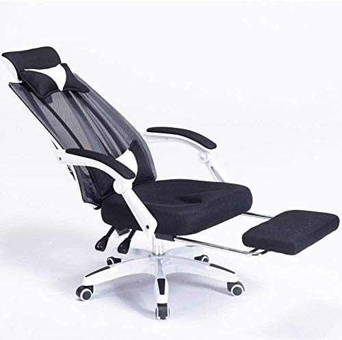 office chair Fhw Gaming Racing Style, High-Back Executive Chair PC Computer Desk Chair Lumbar Massage Support Footrest Ergonomic Padded (Size : Red)
