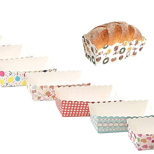 solawill 100 stück Rechteck papierbackform , einweg kuchenform aus papier,gesetzt Papierbackform set Einweg mini kuchenformen Mini backform aus papier hitzebeständig,zum Einbacken,(Zufällige Farbe)