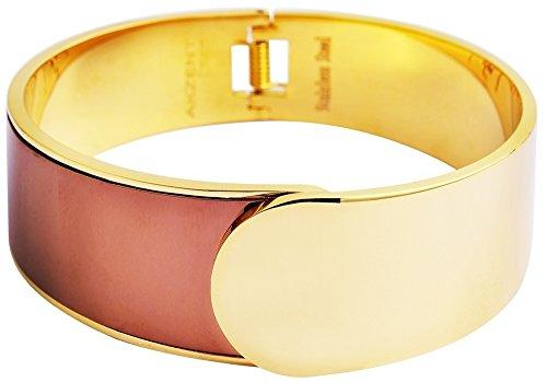 Akzent Armreif Edelstahl goldfarbig IP Gold Beschichtung 003995070025 Armband