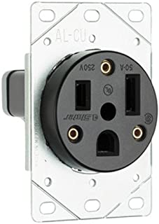 Legrand - Pass & Seymour 3804 Pass and Seymour Straight Blade Single Receptacle Nema 6-50R 50A 250V Boxed