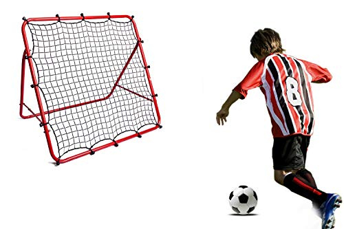 DRNM One-Sided Soccer Rebound Net Football Rebounder Net Portable Training Soccer Net for Kids and Teenagers - Perfect for Backyard Soccer Practice, Easy to Set up, 40×40 inch