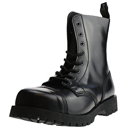 Boots & Braces - 8 Loch Stiefel Rangers Schwarz Größe 42 (UK8)