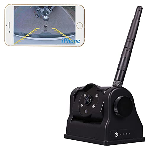 WiFi Magnetic Trailer Hitch Camera - Rechargeable...
