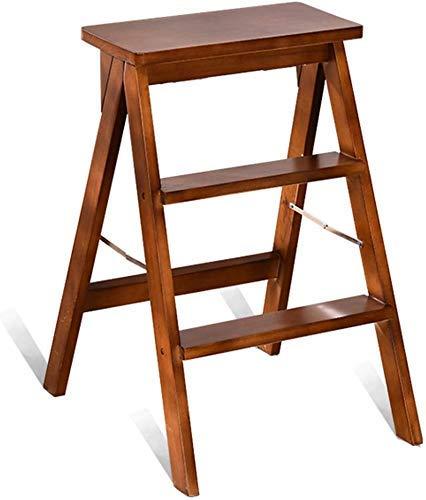 AISHANG plegable escalera/silla taburete, taburete de madera maciza taburete de cocina jardín escalera alta taburete de seguridad taburete doble uso taburete para taburetes