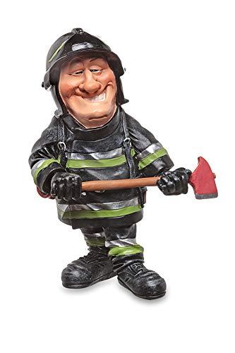 Les Alpes Orig. Figura Pompiere, 18,5cm - Statuina Figurina Dipinta a Mano in Resina Sintetica - Collezione Funny World Mestieri Pubblico Ufficiale - 014 77040
