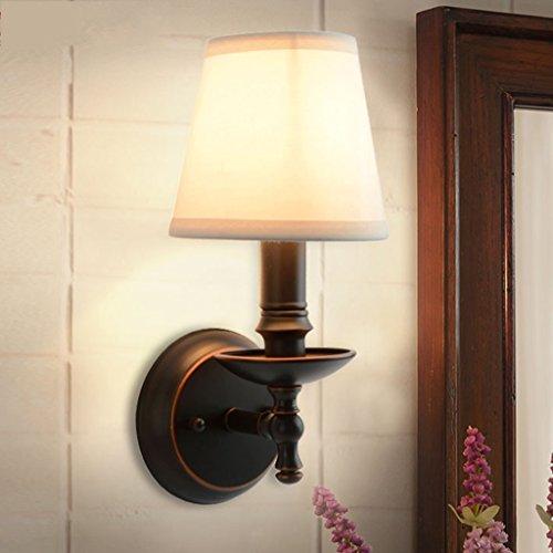 Applique Murale Lampe de Chevet de Chambre à Coucher Unique de Lampe, Fond de Salon Lampe de Mur de Fer forgé de Couverture Excellente décoration