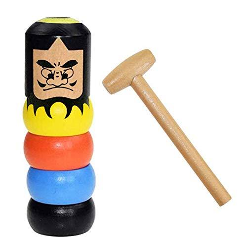 Immortal Daruma Magic Toys Zaubertricks Lustiges Spielzeug Unzerbrechlicher Mann Aus Holz Magic Toy Zaubertrick Bühnenzauberrequisiten, Kinderspielzeug
