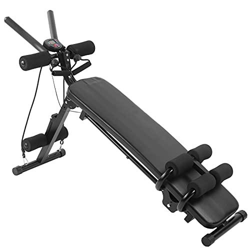 Dioche Banco de pesas para gimnasio, banco ajustable para abdominales, levantamiento de pesas, cama para entrenamiento en casa, hierro + esponja, 81 x 117 cm