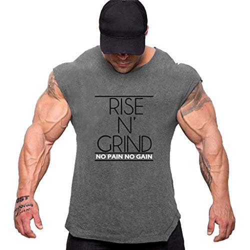 Celucke Kurzarm Muskelshirt Sport Fitness T-Shirt Herren Rundhals Stretch Basic Shirts für Gym & Training - Passform Slim-Fit, Männer Logo Kurzarmshirt Short Sleeve Top Tee Casual Coole O-Neck