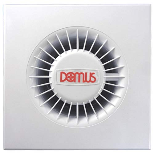 Domus Silavent Bathroom/WC Basic Standard Extractor Fan in White 4' 100mm 4 Inch - SDF100B
