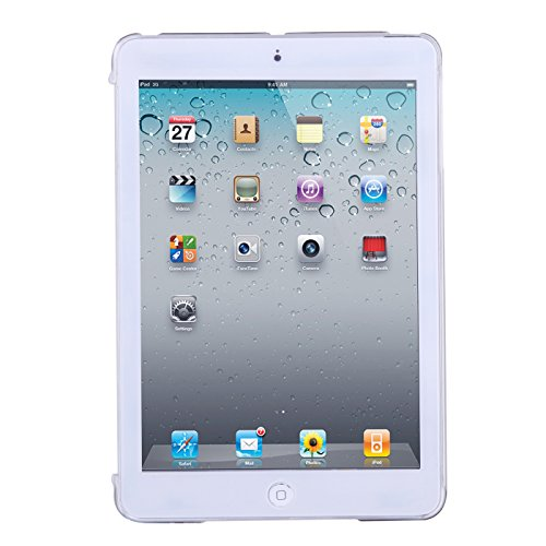 HDE iPad Mini Clear Back Case- Plastic See Thru Hard Shell Snap On Cover for Apple iPad Mini 1 Mini 2 Mini 3 (Clear)