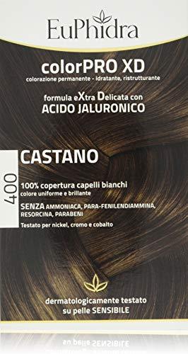 Euphidra Colorpro XD Colorazione Permanente con Acido Jaluronico, Castano - 190 g