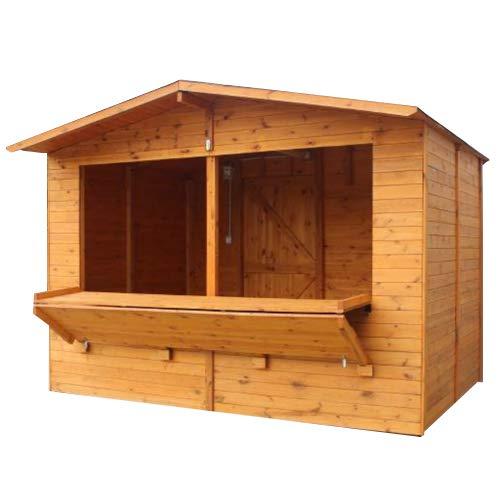 Chiosco in legno 300 x 200 x H 210 cm sp. 20mm