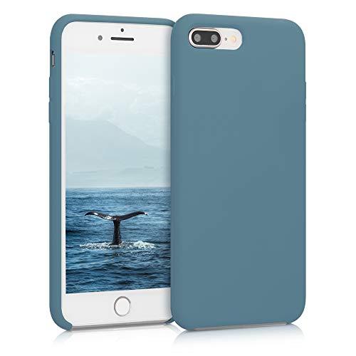 kwmobile Funda para Apple iPhone 7 Plus / 8 Plus - Funda Carcasa de TPU para móvil - Cover Trasero en Gris frío