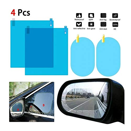 Happy Shop Rückspiegel Regenschutzfolie 1 Satz Auto-Seitenscheibe Schutzfolie Anti-Fog Membrane Anti-Glare Wasserdicht Regendicht Autoaufkleber Klar Film Ersatz (Color : 200x160mm 2pcs)
