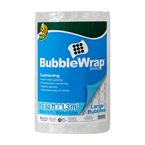Duck Brand Large Bubble Wrap Cushioning - Clear, 12 in. x 15 ft.