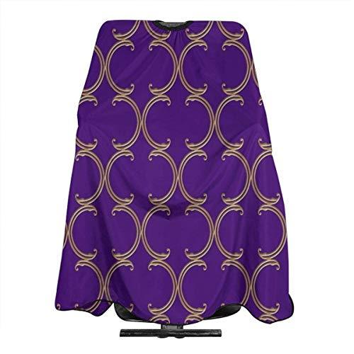 Moroccan Lattice Pattern Purple Personalized Custom Professional Friseursalon-Schürze, Polyester Hair Shawl 55