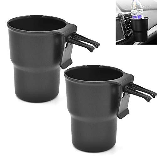 witgift 2X Auto Universal Getränkehalter Flaschenhalter Becherhalter Autozubehör Getränke/Dosenhalterung Set,Schwarz