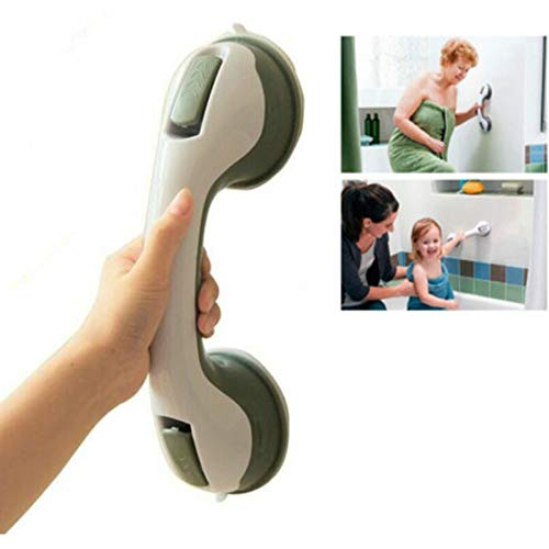 Bathroom Balance Bar with Strong Suction?Shower Handle Suction Cup?Bath Support Handles?Bath Aid for Elderly Saftey Rail