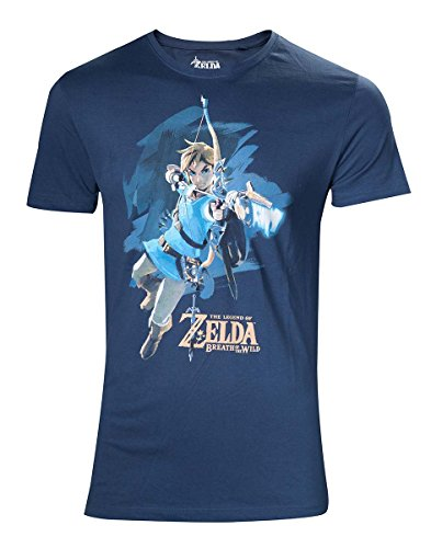 Zelda Breath of the Wild T-Shirt -M- Link mit Pfeil