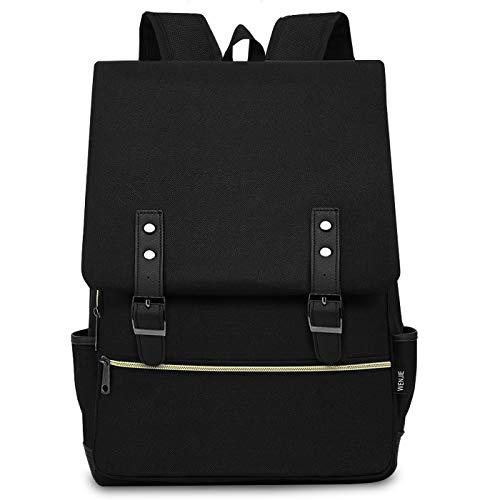 CX&LL Zaino Laptop, Zaino PC Donna 15.6 Pollici Zaino Porta PC Zaino Casual per università o scuola Backpack uomo business, Nero