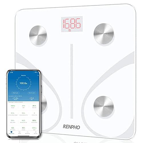Balança Inteligente Bioimpedância Bluetooth Branca, RENPHO, Análise de Composição Corporal, Sincroniza para Smartphone via Bluetooth - TOPSELLER