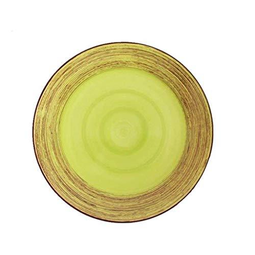 WYZXR Plato de ensalada de cerámica de 11 pulgadas pintado a mano de carne occidental cubiertos para restaurante cocina desayuno ensalada de frutas fideos
