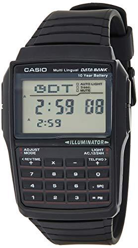 Casio DBC32-1A Datenbank für Herren, digital, Schwarz