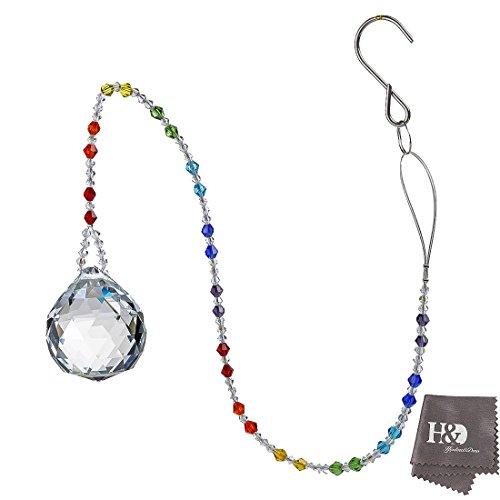 H&D Kristall Sonnenfänger Prism zum Aufhängen Glas Kronleuchter Prisms Feng Shui Dekor