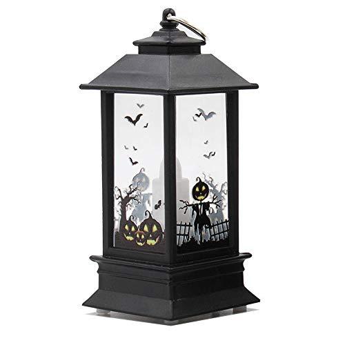 Docooler Halloween Simulation Flame Lamp, Oil Light, Accessori per la decorazione della casa, Lampade per la decorazione della tavola