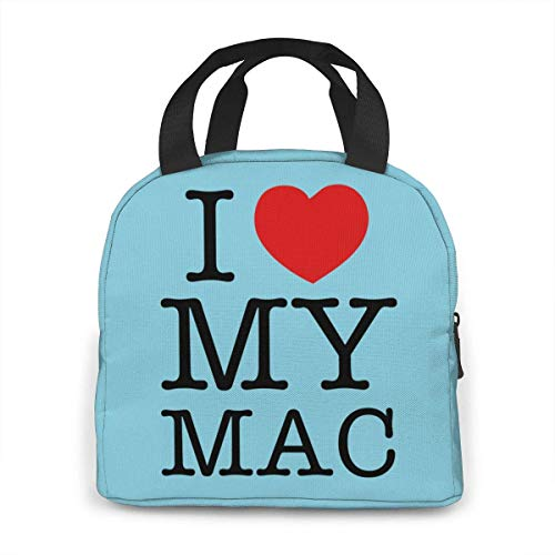 I Love My Mac Lunchbox Carry Case Container for Women/Men Kids, Work, School, Picnic, Beach Lunch Bento Bag Easy to Clean