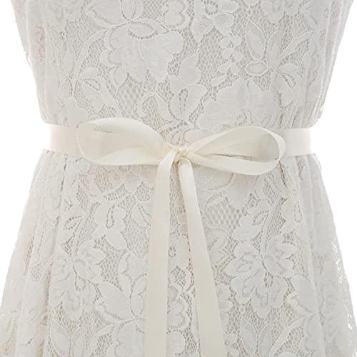 Cinturón de boda con diamantes de imitación de cristal Cinturón de novia con diamantes de plata Faja nupcial para vestido de novia vestido de -off white, Talla única