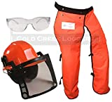 Forester Chain Saw Safety Chaps 40' Leg Plus Deluxe Safety Helmet