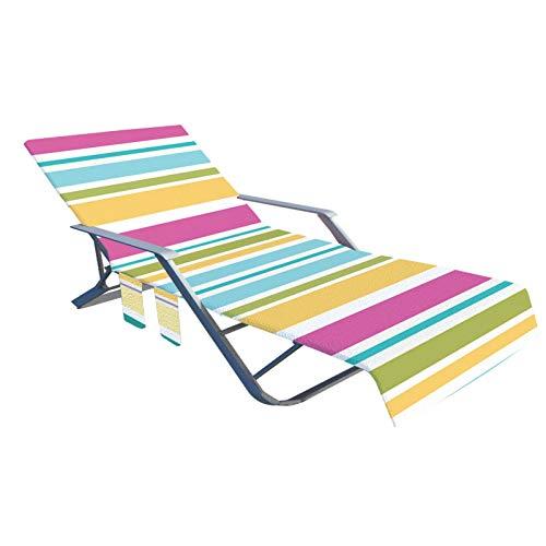 tidystore Funda para silla tumbona, funda para tumbona – Cómodo forro para tumbona de piscina suave para tomar el sol en hoteles, sin silla