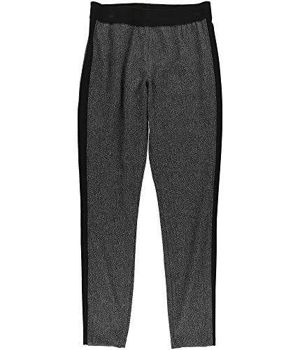 RACHEL Rachel Roy Women's Cindi Tuxedo-Stripe Leggings Black Heather Grey Small