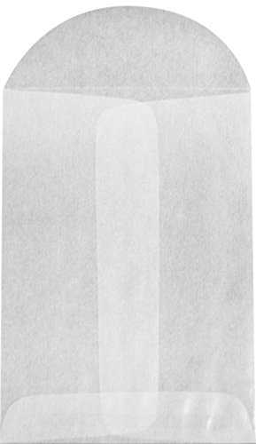 LUXPaper #1 Coin Envelopes in 30 lb. Glassine, Envelopes for Coin Collections, Garden Seeds, Stamps, and More, with Moistenable Glue, 50 Pack, Envelope Size 2 1/4 x 3 1/2 (Gray)