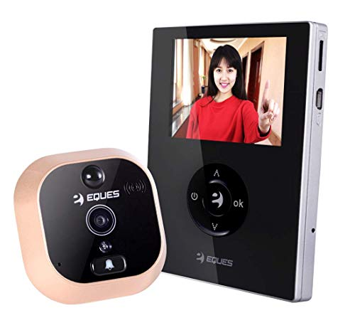 #1 Selling - VEIU Mini by Eques - Smart Video Doorbell & Door Viewer - Rechargeable and Easy Installation - Award Winning Digital Peephole WiFi Security Camera (Night Vision) - iOS & Android