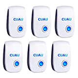 CUAU Ultrasonic Pest Repeller 6 Pack, Pest Repellent Ultrasonic Plug in, Pest Reject Control Pest Defender for Mosquito,Insects,Cockroaches,Mouse,Spider, Ant,Rats, Bug, Rodent