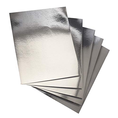 Hygloss Products Metallic Foil Board Sheets - 8.5 x 11 Inches – Silver, 25 Pack