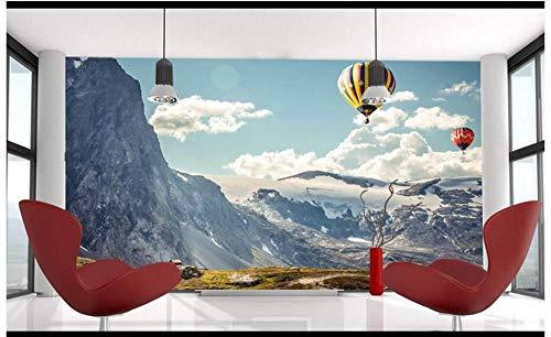 muur muurschildering Alpine hete lucht ballon behang foto niet-geweven reus muur poster woonkamer modern decor kunst - mix voyeur Geslacht 350CMx245CM