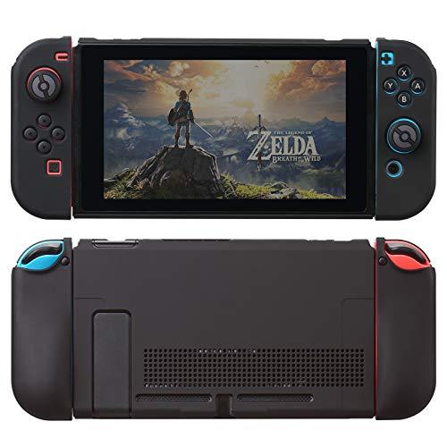 Nintendo Switch 対応 カバー、switch 対応 カバーラウンドなシリコーン保護カバー 任天堂スイッチ カバー 対応 アクセサリ 無料ロッカーカバー(黒)