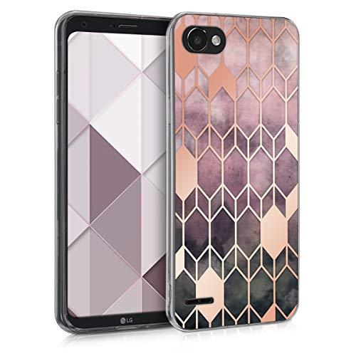 kwmobile LG Q6 / Q6+ Hülle - Handyhülle für LG Q6 / Q6+ - Handy Case in Glory Design Pink Rosegold