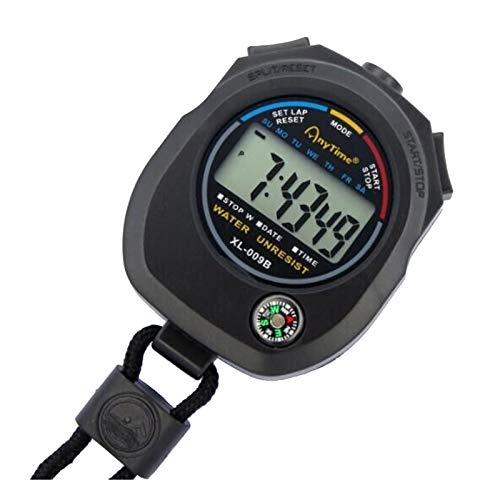 Cronómetro deportivo electrónico multifunción con pantalla grande y correa de cuello de alta precisión para entrenadores y árbitros