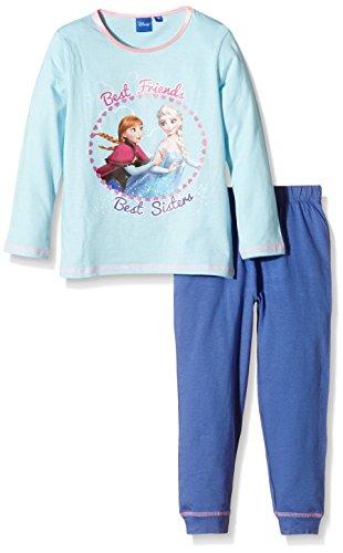 Disney Mädchen Frozen/Best Friends Zweiteiliger Schlafanzug, Blau-Blue (Flash), 4 Jahr