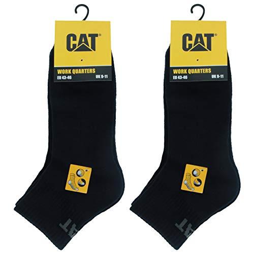 Caterpillar Quarter Socks 6 Paia Calzini da Lavoro Uomo, altezza sopra la caviglia, Rinforzate su Punta e Tallone, Cotone di ottima qualità (Blu, 43-46)